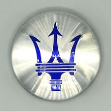 Genuine Maserati Parts_Bright silver and blue center cap 670095835