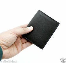 Mens Gents soft real leather wallet purse with credit card ID & coin pouch #48