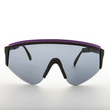 Large Wrap Cycling Vintage Sunglasses Made in France Purple1980s - Marcel