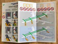 NEUF/UNUSED : A340-300 AIR FRANCE * Aircraft Safety Card * Fiche Sécurité Avion