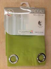 TODAY Rideau Œillets seul panneau rideau, vert, 140 x 260 cm, entièrement NEUF sous emballage, (P)