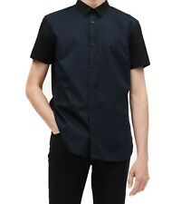 Calvin Klein Mens Short Sleeve Woven Button Down Shirt XL