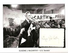 Eugene McCarthy Autograph Presidential Candidate Senator Minnesota Lyndon #1