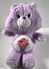 Care Bear Plush Stuffed Animal Milkshake 13 inch purple