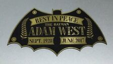 CUSTOM ADAM WEST TRIBUTE DISPLAY NAME PLATE 1966 BATMAN TV SERIES *GOLD*