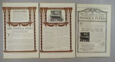 Pianola Piano LOT of 2 PRINT AD - 1907 ~~ Aeolian