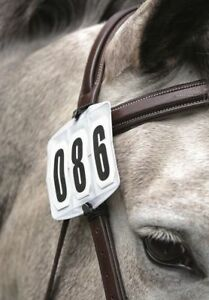Shires Competition Number Kit - Secure to Arm or Bridle - Black