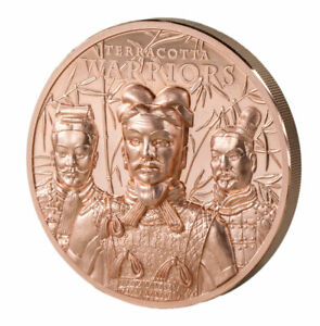 2021 Cook Islands Terracotta Warriors UHR 50g Copper PL $1 Coin in Capsule