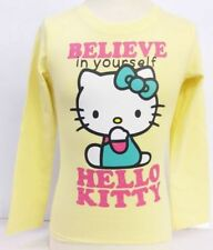 T-shirt jaune pour fille de 2 à 16 ans