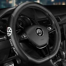 "15"" Car Steering Wheel Cover Genuine Leather For Volkswagen"
