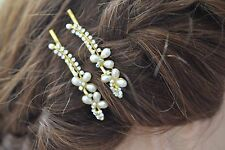 Beautiful Gold Bobby Pin Hair clip Kirby Clip Wedding Flower Girl Bridal Party