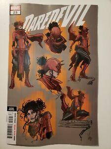 Daredevil #25 Marvel 2019 Series 2nd Print 1:25 Design Variant 9.6 Near Mint+