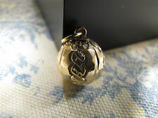 Antique Victorian Ornate Ball Sphere Charm, Pendant or Fob