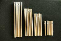 Klangstäbe-Set 20 teilig, silber, je 5 Stück in 6,9,11 und 14 cm x 6 mm (hohl)