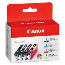 New Genuine Canon CLI-8 4PK Ink Cartridges PIXMA iP3300 PIXMA iP3500 PIXMA MP800