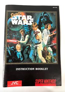 Super STAR WARS - SNES Super Nintendo Instruction Booklet ONLY Manual