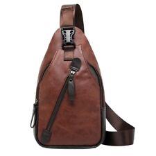 Herren Umhängetasche | Crossbody Bag | Sling Bag aus Kunstleder (Braun)