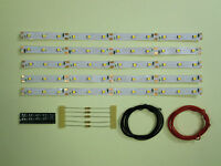 S543 - 5 Stück LED Waggonbeleuchtung 200mm weiß analog + digital Bausatz