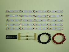 S543 5 Pièces LED Éclairage voiture 200mm blanc analogique + numérique