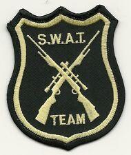 SWAT - Team (2 Gewehre-Zielfernrohr) SEK Police Polizei Patch Abzeichen  TEXAS !
