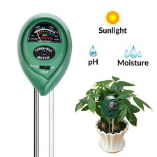 Soil pH Meter 3-in-1 Plant Soil Tester Kit Moisture Light PH Acidity In Outdoor