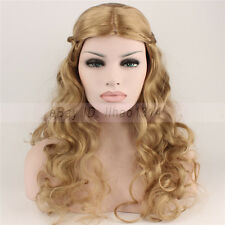3-7 Day Ship Halloween Cosplay Wig Cinderella Princess Hair Braided Long Curly ~