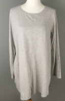 NEW PURE J. JILL XS M L L/S Shirttail Tunic Pima Cotton/Modal Oatmeal Beige