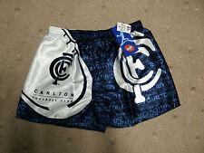 Mens AFL Carlton Blues Satin Boxer Shorts Size Small S RRP $19 underwear boxers