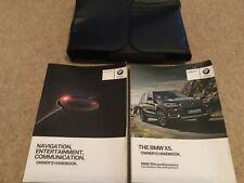 BMW X5 F15 OWNERS MANUAL INC NAV  HANDBOOK & WALLET 2013-2017 FAST POST