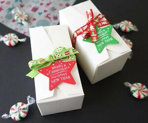 Christmas Cookies Boxes 12x6x6cm, XMAS Chocolate, White Macaron Gift Box