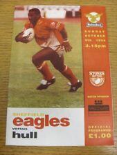 09/10/1994 programma Rugby League: SHEFFIELD Eagles V Hull. bobfrankandelvis [