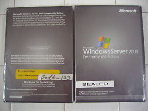 Microsoft Windows Server 2003 Enterprise x64 64 Bit Full Retail Edition MS WIN