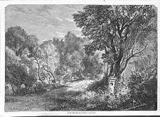 PARIS VAUGIRARD ANCIEN CIMETIERE DE L' OUEST GRAVURE ILLUSTRATION 1863