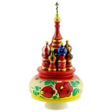Boite à musique russe/ Kremlin Moscou en bois/ Boite à musique russe - KALINKA