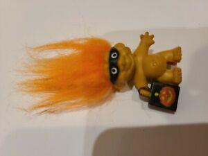 Halloween troll doll pencil topper trolls orange hair mask treat bag pumpkin