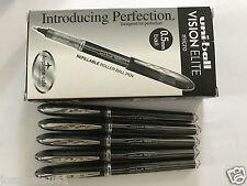 Uni-ball Vision Elite micron  0.5 mm roller ball pen - BLACK  x 12 pcs UB-205