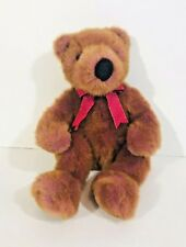 TY Classic 1999 Taffybeary Teddy Bear Brown Purple Highlights Plush Stuffed Toy