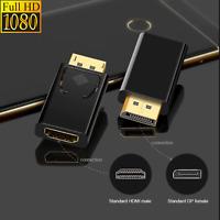 Displayport HDMI Adapter 1080P mit Audioübertragung Goldener Stecker DP auf HD