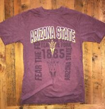 Arizona State Sun Devils T-shirt Men's Size Small Fear The Fork S/S Maroon MINT!