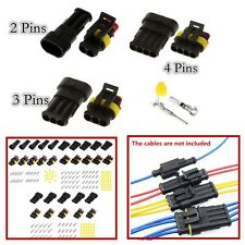 15Set Car Trucks Boat Motorcycle 2P  3P 4P Sealed Electrical Wire Connector Plug