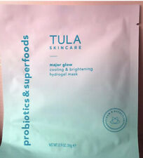 Tula Probiotic Skin Care 1 Pc Major Glow Cooling & Brightening Hydrogel Mask New