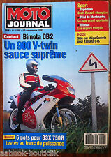 MOTO JOURNAL 10/11/1993; Bimota DB2/ 6 Pots pour GSX 750 R/ Side Car Méga Comète