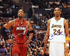 DWYANE WADE KOBE BRYANT REPRINT AUTOGRAPHED SIGNED PICTURE PHOTO HEAT LAKERS RP