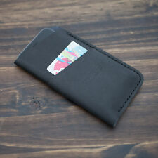 Genuine Leather for iPhone 7 sleeve case - BLACK - Made in USA ON SALE
