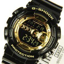 Casio G-Shock Mens Wrist Watch GD100GB-1  GD-100GB-1DR Digital Black Gold