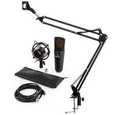 Set Grabacion Kit Estudio Audio Auriculares Soporte Microfono de Condensador