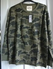 New Hollister Mens Sweatshirt Khaki   L