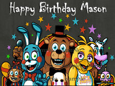 FNAF Edible CAKE Image Icing Topper Decoration 5 five nights at freddy's