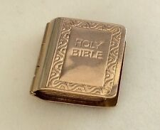 Lovely Vintage 9Ct Gold Holy Bible Charm Pendant Or Locket