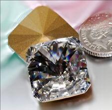 SWAROVSKI ® - 1 Pz  Cabochon Quadrato 4650 -18 mm Crystal Clear Vintage Gold F